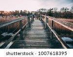 A Wooden Pier Over A Salt Mars...