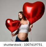 young beautiful pregnant woman... | Shutterstock . vector #1007619751