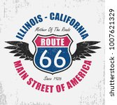 route 66 typography graphic for ... | Shutterstock .eps vector #1007621329