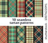 set of seamless tartan patterns | Shutterstock .eps vector #1007622091