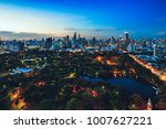 lumpini park  the lungs of... | Shutterstock . vector #1007627221