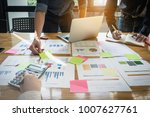 close up business woman and... | Shutterstock . vector #1007627761