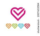 heart check logo icon | Shutterstock .eps vector #1007633584