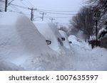 winter urban scene in canada.... | Shutterstock . vector #1007635597