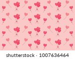 pink shape of hearts flying... | Shutterstock .eps vector #1007636464