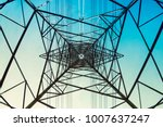 high voltage post power line... | Shutterstock . vector #1007637247