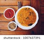manado porridge menu on a... | Shutterstock . vector #1007637391