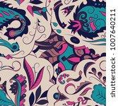 seamless mehndi vector pattern. ...   Shutterstock .eps vector #1007640211