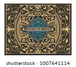 retro card design with floral... | Shutterstock .eps vector #1007641114
