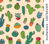 cactus vector home nature... | Shutterstock .eps vector #1007641405