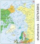 arctic ocean political map. no... | Shutterstock .eps vector #1007643841