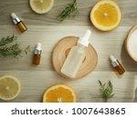 vitamin c serum .natural... | Shutterstock . vector #1007643865