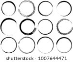 grunge vector circles. brush... | Shutterstock .eps vector #1007644471