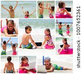 collage of photos with children ... | Shutterstock . vector #1007652361