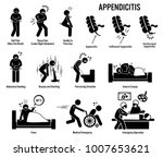 appendix and appendicitis icons.... | Shutterstock .eps vector #1007653621