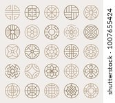 asian traditional patterns... | Shutterstock .eps vector #1007655424