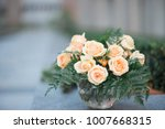 wedding bouquet in a vase with...   Shutterstock . vector #1007668315