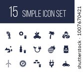 set of 15 ecology icons set.... | Shutterstock .eps vector #1007670421