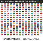 all official national flags of... | Shutterstock .eps vector #1007670961