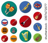 musical instrument flat icons... | Shutterstock .eps vector #1007672077