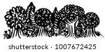 forest horizontal banner   Shutterstock .eps vector #1007672425