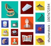 human old age flat icons in set ... | Shutterstock .eps vector #1007672554
