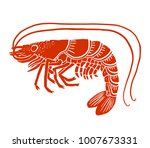 shrimp prawn icon | Shutterstock .eps vector #1007673331