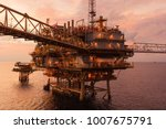 offshore oil and gas central... | Shutterstock . vector #1007675791