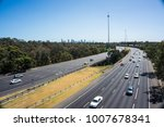 traffic on the eastern freeway... | Shutterstock . vector #1007678341