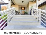 wooden stairs painted white... | Shutterstock . vector #1007683249