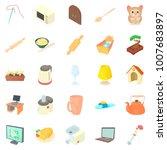 convenience icons set. cartoon... | Shutterstock . vector #1007683897