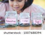 cute asian little child girl...   Shutterstock . vector #1007688394