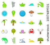 natural strength icons set.... | Shutterstock . vector #1007689531