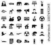 earth care icons set. simple... | Shutterstock . vector #1007692345