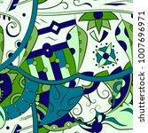 seamless mehndi vector pattern. ... | Shutterstock .eps vector #1007696971