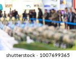 visitors visit the exhibition...   Shutterstock . vector #1007699365