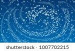 blizzard on blue background.   Shutterstock .eps vector #1007702215