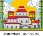 chinese template with bamboo... | Shutterstock .eps vector #1007702251