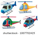 four designs of helicopters... | Shutterstock .eps vector #1007702425