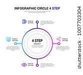 4 step infographic | Shutterstock .eps vector #1007703304