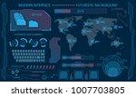 futuristic interface hud design ... | Shutterstock . vector #1007703805
