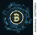 bitcoin with hud elements. bit... | Shutterstock . vector #1007703814