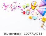 baby shower. cookies in shape... | Shutterstock . vector #1007714755