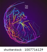 moving colorful lines of... | Shutterstock .eps vector #1007716129