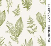 spring seamless pattern with... | Shutterstock .eps vector #1007718649