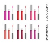 realistic detailed 3d color lip ... | Shutterstock .eps vector #1007720344
