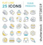 set of vector line icons  sign... | Shutterstock .eps vector #1007728519