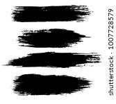 grunge ink brush strokes set.... | Shutterstock .eps vector #1007728579