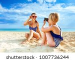 sun kissed beauty. smiling... | Shutterstock . vector #1007736244