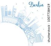 outline berlin germany city... | Shutterstock . vector #1007738419
